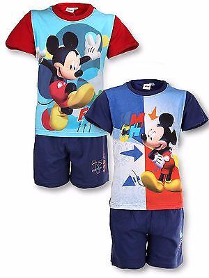 Jungen Disney Mickey Mouse Kurze Pyjama Pj Kinder Shorts Pyjama Alter 3-8 Jahre