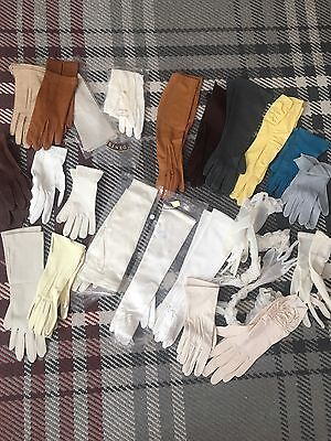 Ladies Vintage Evening Driving Wedding Gloves Job Lot Wholesale Dealers Leather