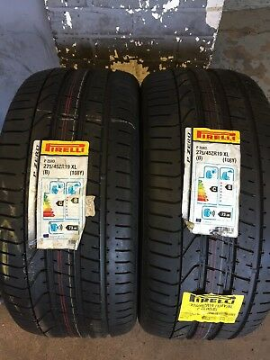 2x 27545R19 PIRELLI PZERO 108Y B BENTLEY APPROVED EXTRA LOAD TYRES