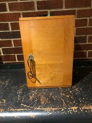 Vintage Ernst Leitz Wetzlar Microscope W 4 Objectives Wooden Case