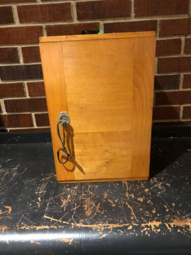 VINTAGE ERNST LEITZ WETZLAR MICROSCOPE W/ 4 OBJECTIVES, Wooden Case
