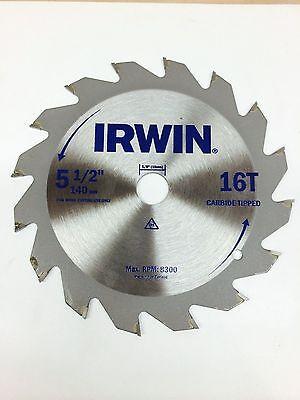 5-12 Circular Saw Blade 16t Arbor 58 Irwin Dd3589-2