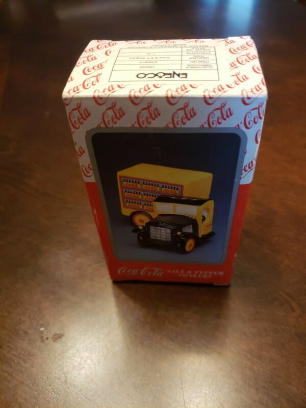 Vintage Coca Cola Salt And Pepper Shakers, Truck, New With Original Box