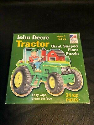 John Deere Tractor Giant Shaped Floor Puzzle 34pc set!