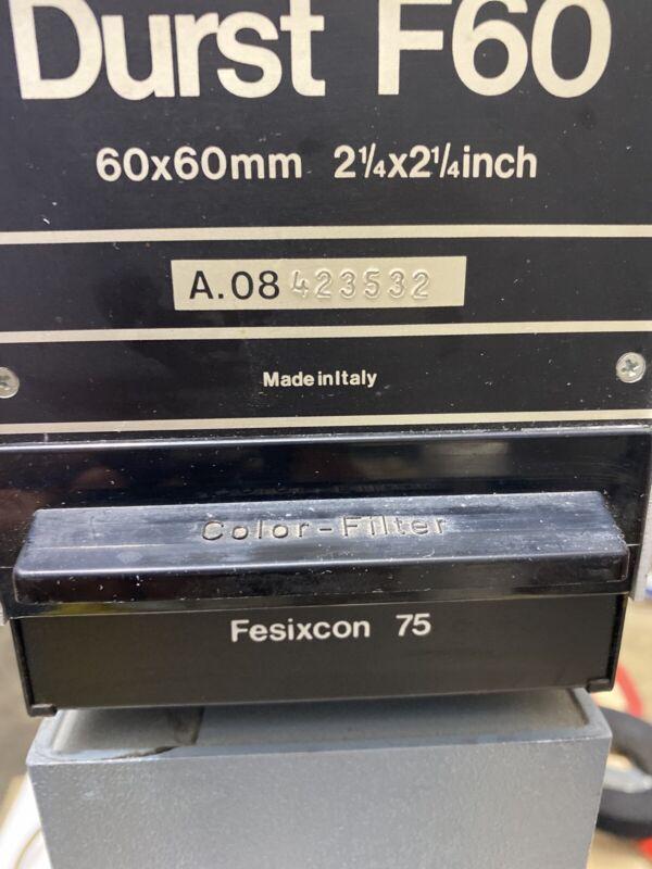 Original Darkroom Enlarger Durst F 60 A.08 423532 Made In Italy