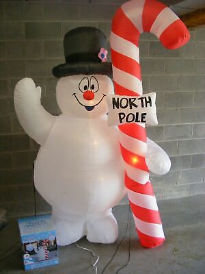 AIRBLOWN INFLATABLE RARE GEMMY LIGHT-UP FROSTY THE SNOWMAN 7.5ft. #1292396