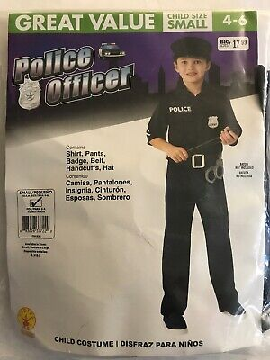 Baby Police Costume (Rubies POLICE OFFICER Cop Policeman Child S 4-6 Costume Complete accessories)