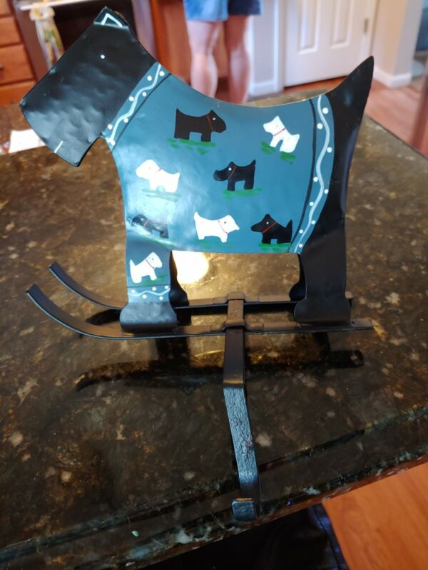Metal Scottie Dog Scottish Terrier  Mantle Stocking Hanger