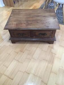 Timber coffee table with four drawers Pagewood Botany Bay Area Preview