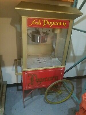 Gold Medal Gay 90s Whiz Bang Popcorn Machine With Cart Excellent Condition