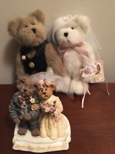 Boyds Bears Wedding Bearstone and plush collection