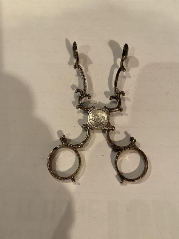 Early English Silver Sugar Nippers