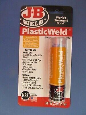 J-b Weld 8237 Plasticweld Plastic Repair Epoxy Putty - 2 Oz  New