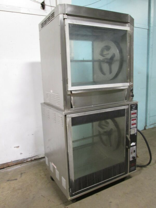 """""""HENNY PENNY"""" H.D. COMMERCIAL DIGITAL DOUBLE STACKED ELECTRIC ROTISSERIE OVEN"""