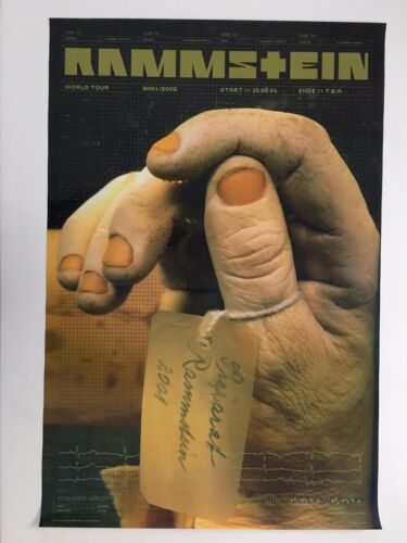 RAMMSTEIN, WORLD TOUR PROMO 2001/2002, RARE AUTHENTIC LICENSED 2001 POSTER