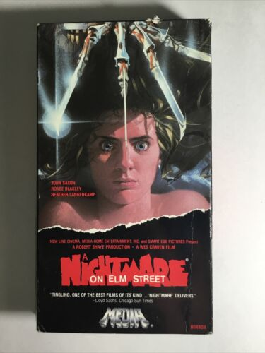 A Nightmare On Elm Street VHS - 1985 MEDIA Release - $19.99