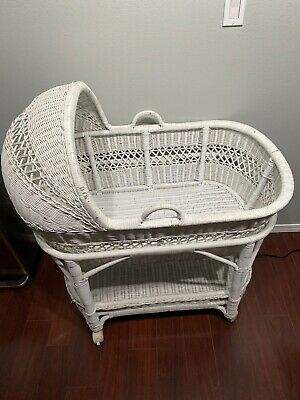 vintage wicker rattan Baby Bassinet Nursery Furniture