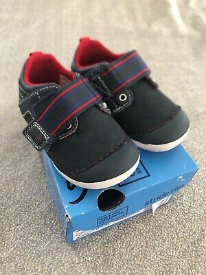 NEW Stride Rite SM Cameron navy red baby boy shoes sneakers 3M 3W 5.5W wide