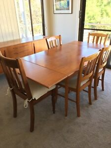 Vintage Chiswell 47 Parker Era Dining Table Seats 4 6 Buffet