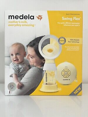 Medela Swing Flex Electric Breast Pump 2-Phase Expression Technology -New/Sealed