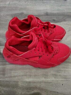 Nike Air Huarache Triple Red Shoes Youth Size 6Y