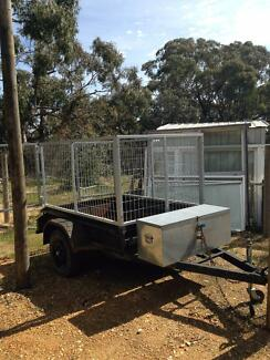 Trailer Heavy Duty with jockey, 3ft cage and toolbox