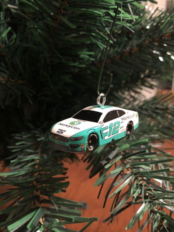 Nascar Ryan Blaney #12 Race Car 1/87 Scale Christmas Ornament!!