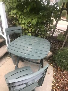 Lightweight Table and 2 Chairs
