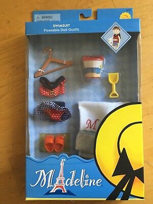 "Madeline *Swimsuit* for 8"" doll Eden/Learning Curve, NIB"