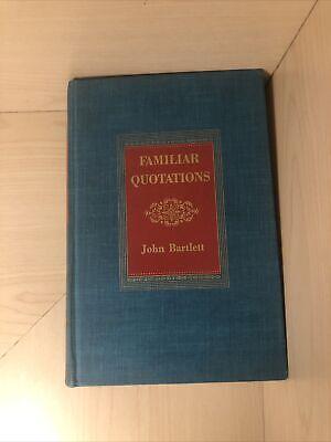 familiar quotations john bartlett