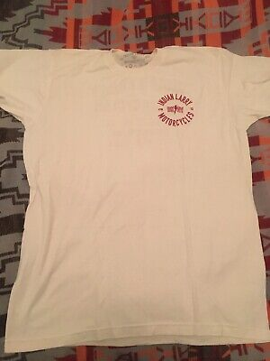 Official Indian Larry Motorcycles Shirt Mens (L) NYC Brooklyn Bike Builder FTW