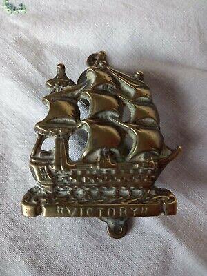 Vintage Brass The Victory Door Knocker Ship Brass Furnishing Nautical Historical