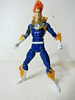 "Marvel Legends Ronan Series Fantastic four Human Torch 6"" action figure"