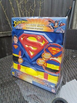 OFFICIAL SUPERMAN FANCY DRESS COSTUME 3-D ACTION SUIT DC COMICS RUBIES NEW