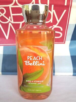 Bath and Body works PEACH BELLINI Shower Gel Body Wash 10 fl oz / 295ml