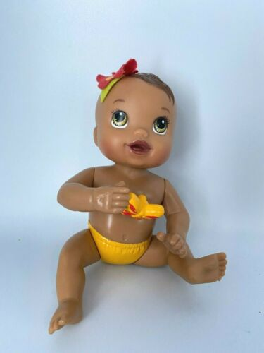 "6"" Baby Alive 2012 Hasbro Doll Kicks N Cuddles Newborn Hispanic Brown Eyes WORKS"