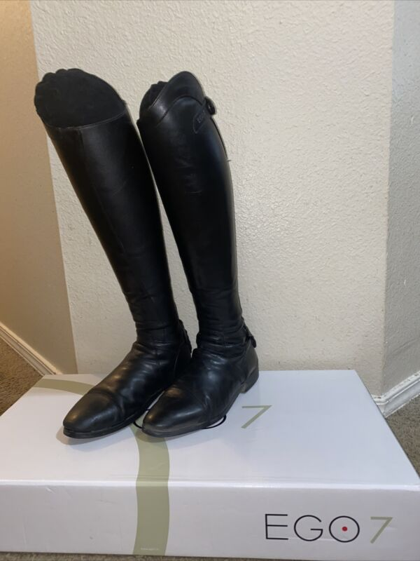 Ego 7 Black Leather Riding Boots- Size 9-9.5