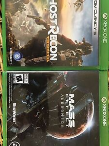 Mass effect et ghost recon