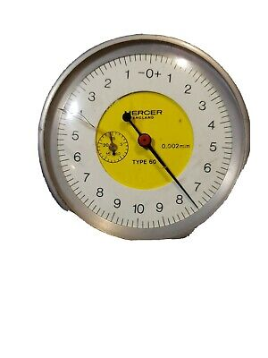 Mercer England Type 60 Dial Indicator 0.002mm