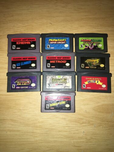 Lot of 10 Game Boy Advance Games (Gauntlet, Metroid, Bomberman, Mario)