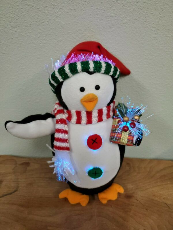 Petey Fiber Optic Penguin-Christmas Decor Brand New in Box