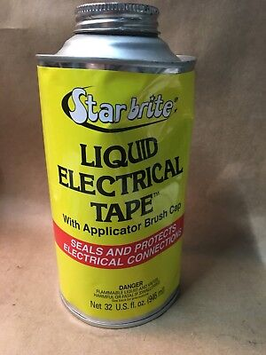 Star Brite 84134 Black Liquid Electrical Tape 32 oz. GREEN * FREE SHIPPING * @