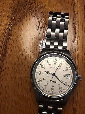 Vintage Hamilton Khaki Automatic 9721B 25J Watch Keeps Good Time.