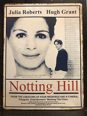 NOTTING HILL  Classic Movie Poster Wall Decor Garage Metal Sign 30x40 Cm