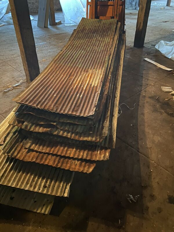 Rusty Corrugated And Flat Panel Tin Roofing Decor Sold Per Sheet- WE DO SHIP-