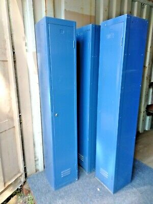Vintage Industrial Personal Storage Locker Factory Office Gym