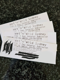 Wet and Wild Tickets x4 Prospect NSW