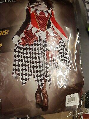 SCARY HARLEQUIN GIRL    (Fancy Dress -one     Size   - Kostüm Scary Girl