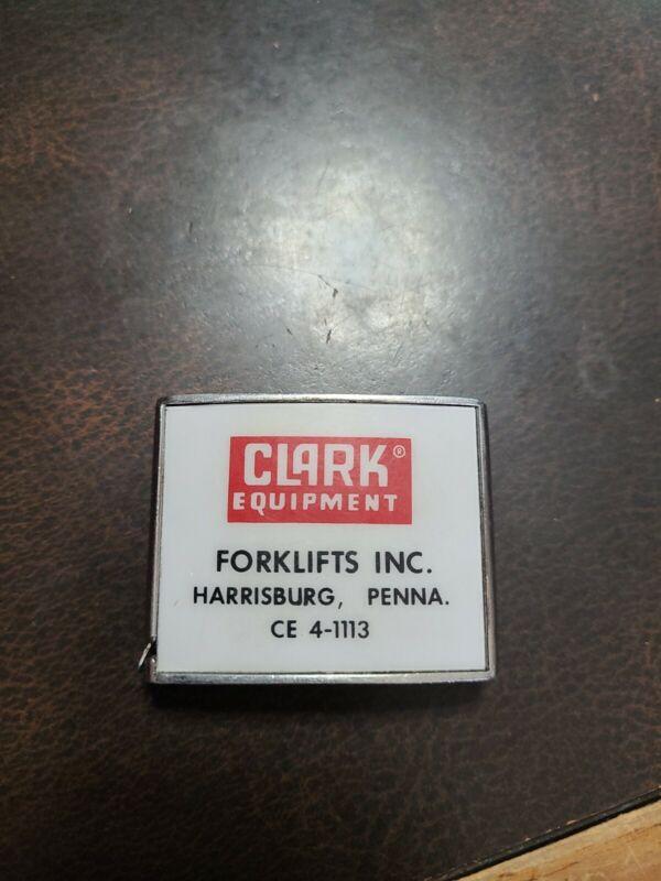 Vintage 1960s Clarks Equipment Forklifts Co. Barlow Tape Measure Harrisburg Pa