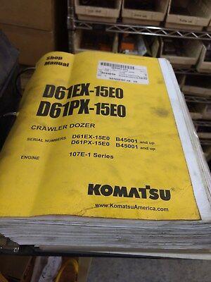 Komatsu D61ex-15e0 D61px-15e0 Crawler Dozer Shop Manual